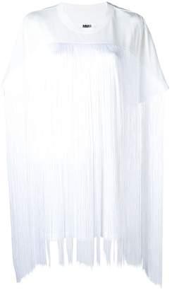 MM6 MAISON MARGIELA boxy fringed T-shirt