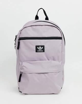 adidas mini trefoil backpack with light purple
