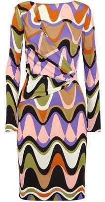 Emilio Pucci Gathered Printed Jersey Dress