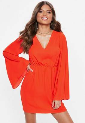 Missguided Plunge Kimono Sleeve Mini Dress