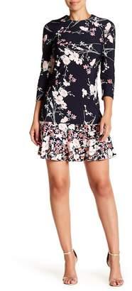 Eliza J Long Sleeve Floral Dress