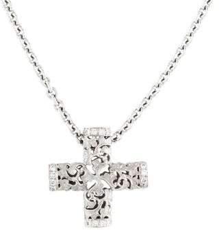 Carrera y 18K Diamond Cross Pendant Necklace