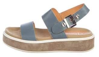 Aquatalia Suede Platform Sandals