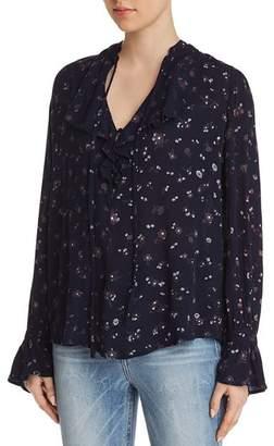 AG Jeans Celeste Ruffled Floral Top