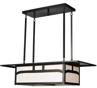 Tiffany & Co. Meyda Hyde Park Double Bar Mission 4-Light Kitchen Island Pendant Meyda
