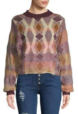 Free People Ribbed Patterned Sweater