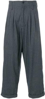 YMC striped wide leg trousers