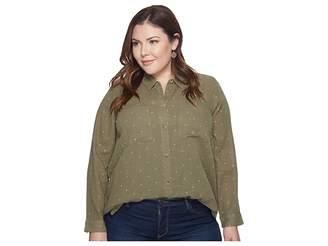 Lucky Brand Plus Size Lucky You Shirt Women's Long Sleeve Button Up