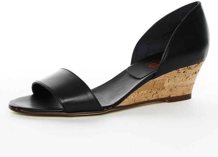 Kors By Michael Kors Noble Demi-Wedge Sandal, Black