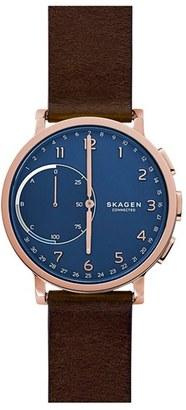 Skagen Hagen Connected Hybrid Smart Watch, 42Mm $205 thestylecure.com