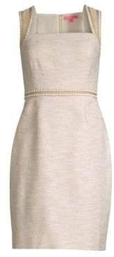 Lilly Pulitzer Dana Embellished Metallic Sheath Dress