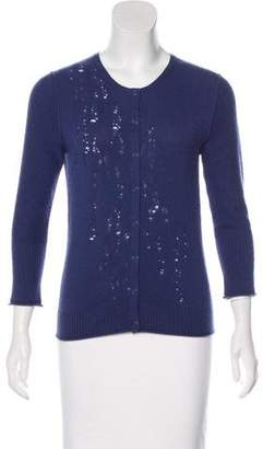 TSE Distressed Cashmere Cardigan