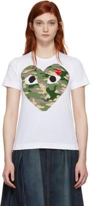 Comme des Garcons White Camo Heart T-Shirt