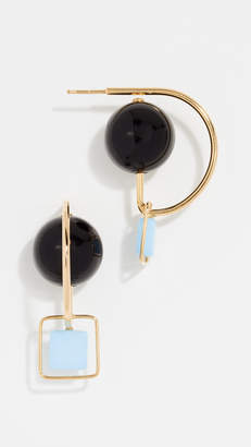 Marni Square Circle Earrings