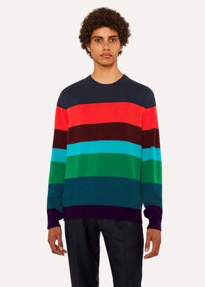 Paul Smith Men's Striped Cashmere Crew Neck Sweater