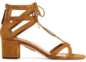 Aquazzura Beverly Hills Suede Sandals