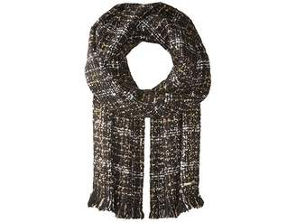 MICHAEL Michael Kors Boucle Plaid Muffler Scarves