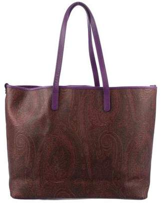 Etro Paisley Shopping Tote w/ Pouch