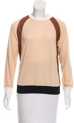 Reed Krakoff Cashmere-Blend Leather-Trimmed Sweater w/ Tags