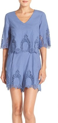 Women's Eci Embroidered Cotton Romper $88 thestylecure.com