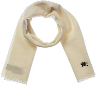 Burberry Embroidered Felt Wool Scarf