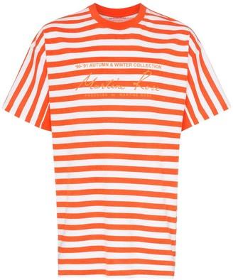 Martine Rose striped logo print cotton T-shirt