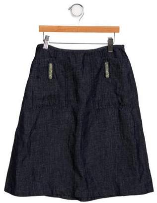 Armani Junior Girls' Linen- Blend Skirt