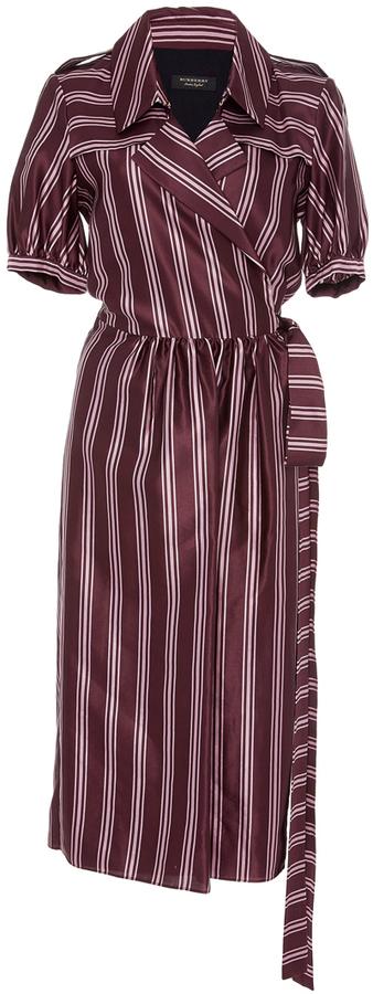 Burberry Panama Stripe Robe Dress