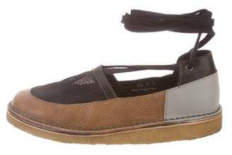Rachel Comey Round-Toe Leather Mesh Flats