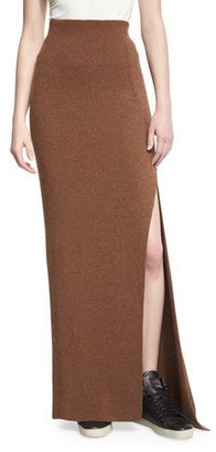 Helmut Lang Transfer-Knit Maxi Skirt, Terra $380 thestylecure.com