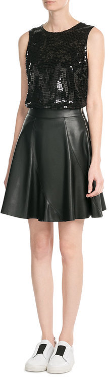 DKNYDKNY Sequin Embellished Sleeveless Top