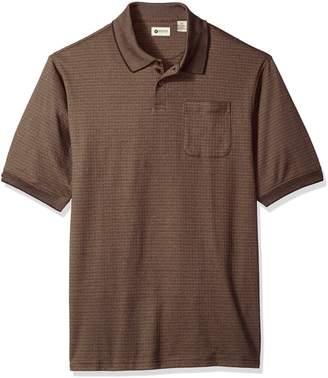 Haggar Men's Big and Tall Short Sleeve Minibox Knit Polo
