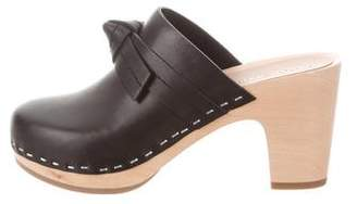 Loeffler Randall Leather Platform Clogs