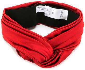 Donia Allegue knot front turban headband
