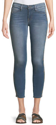 Etienne Marcel Embroidered-Strip Skinny-Leg Ankle Jeans