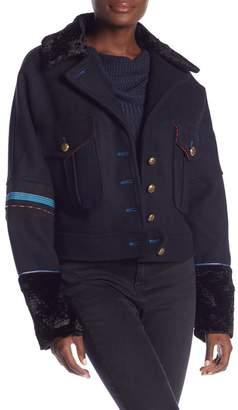 Free People Cropped Wool Blend Eisenhower Jacket