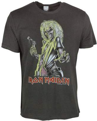 Amplified Official Mens Iron Maiden Killers T Shirt Charcoal