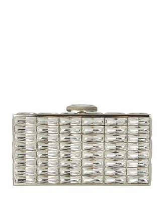 Judith Leiber Couture New Goddess Crystal Clutch Bag, Silver $2,195 thestylecure.com