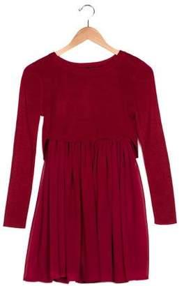 Ella Moss Girls' Crew Neck Long Sleeve Dress