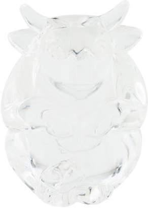 Steuben Crystal Buffalo Hand Cooler