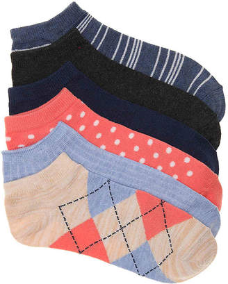 Kelly & Katie Argyle No Show Socks - 6 Pack - Women's