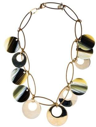 Tory Burch Resin Disc Necklace