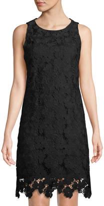 Catherine Malandrino Floral-Lace Sleeveless Dress