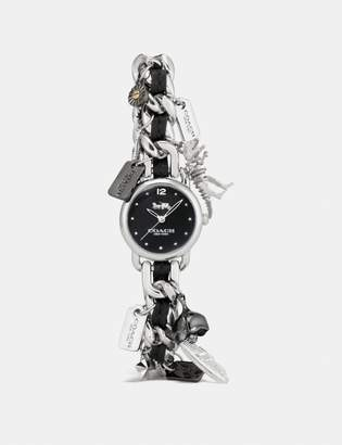 Coach Delancey Charm Bracelet Watch, 23Mm