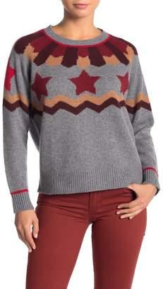 360 Cashmere Inga Star Pattern Cashmere Sweater