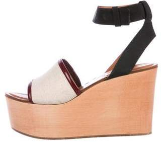 Celine Canvas Wedge Sandals