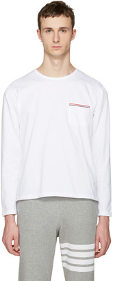 Thom Browne White Pocket T-Shirt $425 thestylecure.com