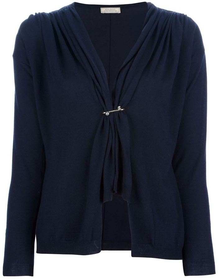 Nina Ricci gathered fitted cardigan