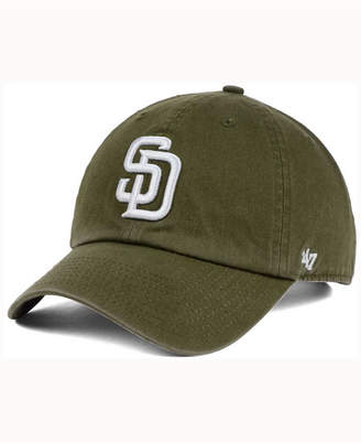 '47 San Diego Padres Olive White Clean Up Cap