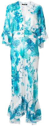 Roberto Cavalli long floral shift dress